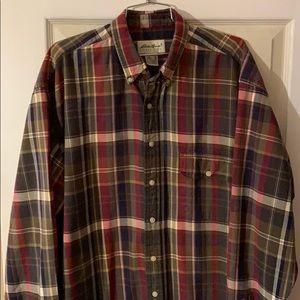 Eddie Bauer Men's Flannel Button Down Plaid Shirt